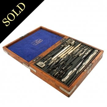 Walnut Cased Drawing Instruments