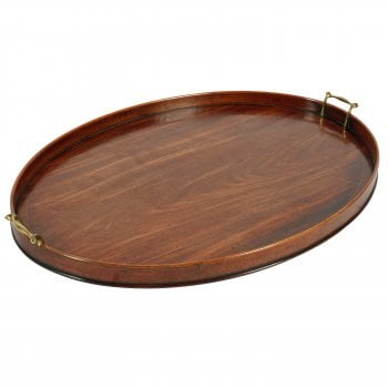Large Georgian Mahogany Tray