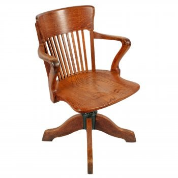 Oak Swivel Desk Chair SOLD