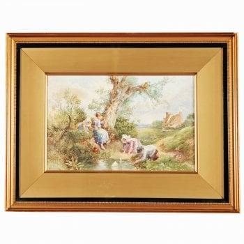 19th Century Myles Birket Foster Print 'Maiden Voyage'