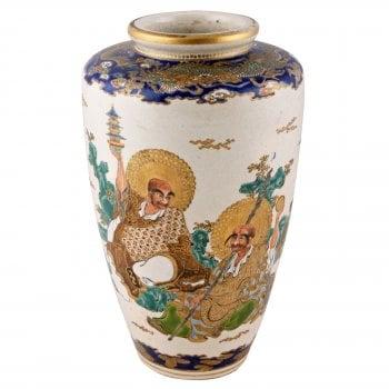 Japanese Satsuma Pottery Vase