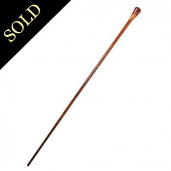 Edwardian Mahogany Walking Cane