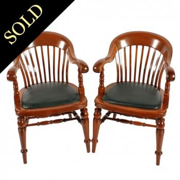 Pair of Mahogany Arm Chairs