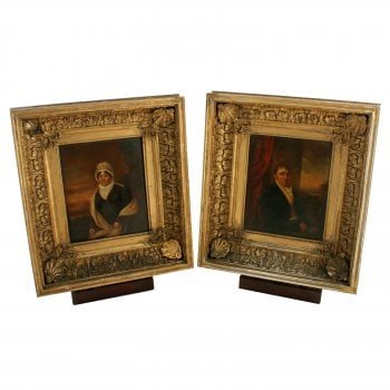 Pair of 19th Century Framed Portraits