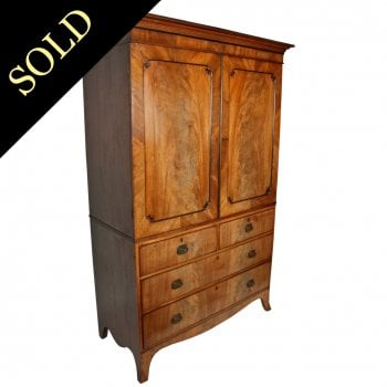Regency Mahogany Tray Wardrobe