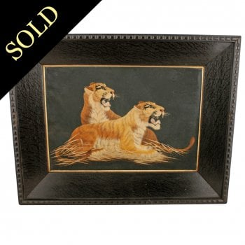 Japanese Silk Picture of Tigers