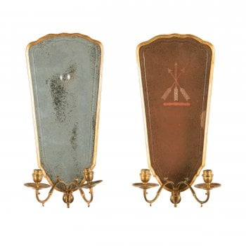 Two 18thc Style Mirrored Wall Sconces SOLD