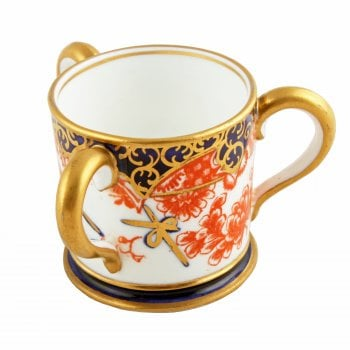 Miniature Crown Derby Loving Cup