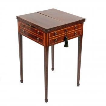 Sheraton Mahogany Patience Table