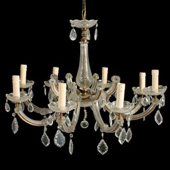 Early 20th Century 8 Branch Chandelier