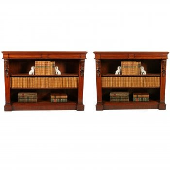 Pair of Victorian Open Bookcases SOLD