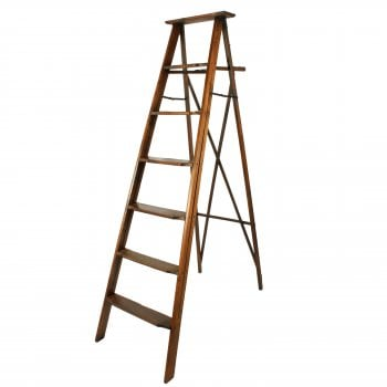 Edwardian Oak Library Ladders SOLD