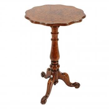 Victorian Figured Oak Tripod Table