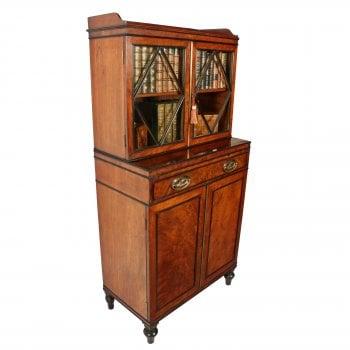 Georgian Mahogany Dwarf Cabinet Bookcase SOLD