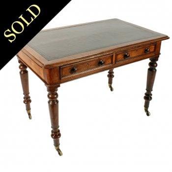 Victorian Figured Oak Writing Table