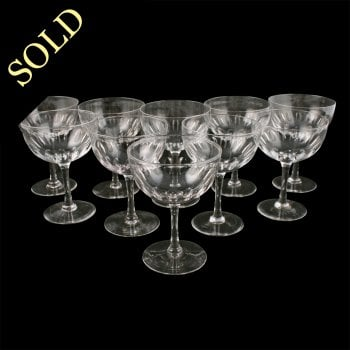 Set of Ten Champagne Glasses