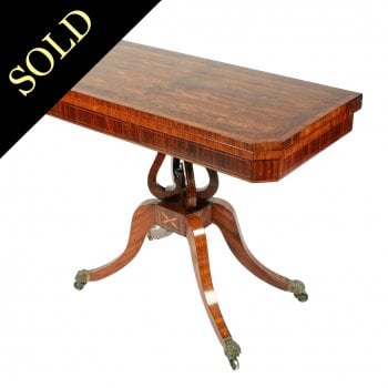 Fine Georgian Kingwood Card Table