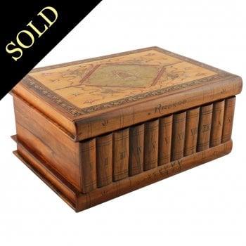 Italian Olive Wood Book Box