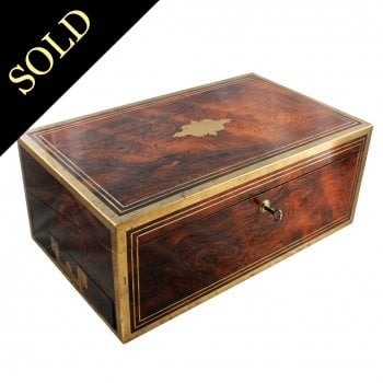 Regency Rosewood Brass Bound Box Desk