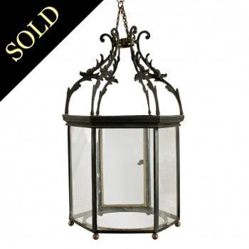 Georgian Hexagonal Hanging Lantern
