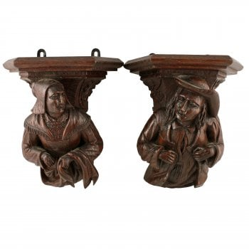 Pair of Medieval Style Wall Brackets SOLD
