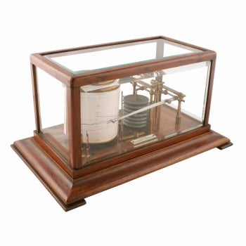 Edwardian Oak Cased Barograph