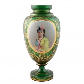 Victorian Bohemian Glass Vase