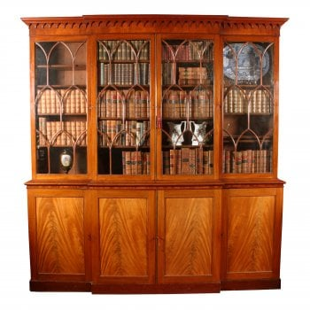 Georgian Mahogany Breakfront Bookcase RESERVED