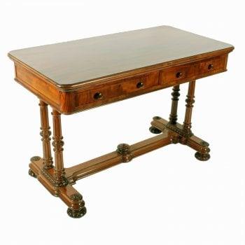 Mid 19th Century Mahogany Library Table