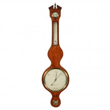 """Georgian Satinwood 10"""" Dial Barometer"""