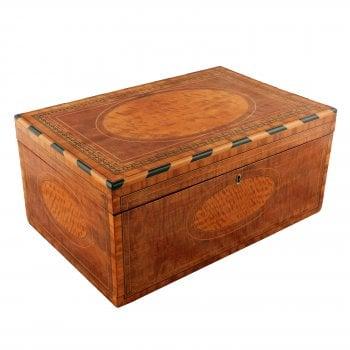 Mahogany and Satinwood Deed Box SOLD