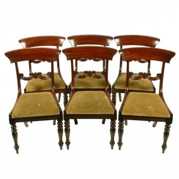 Set of Six Mahogany Chairs