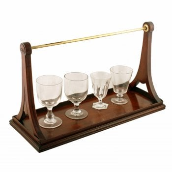 Georgian Mahogany Glass Carrier