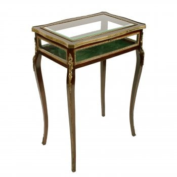 Mahogany & Gilt Brass Bijouterie Table