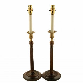 Pair of Georgian Style Candlestick Lamps SOLD