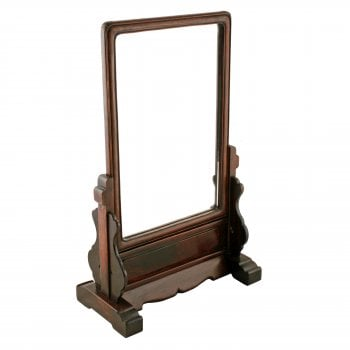 Chinese Rosewood Framed Mirror