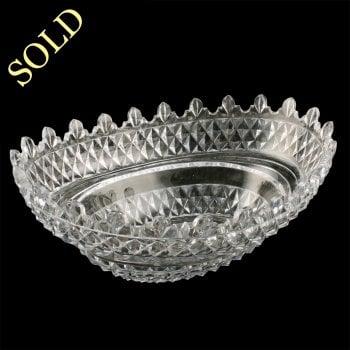 19th Century Cut Crystal Bowl