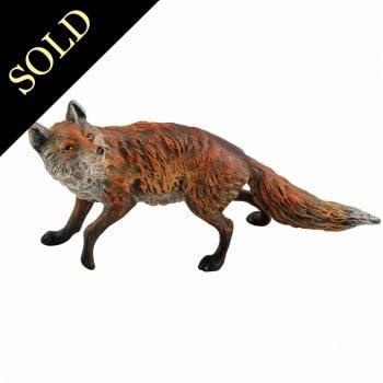 Austrian Cold Painted Bronze Fox