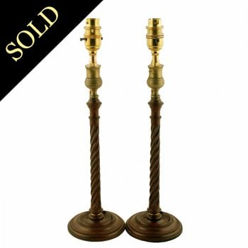 Pair of Georgian Candlestick Lamps