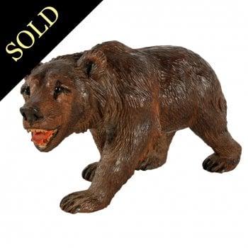 Swiss Carved Wood Bear
