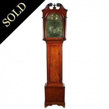 18th Century Brass Dial Grandfather Clock