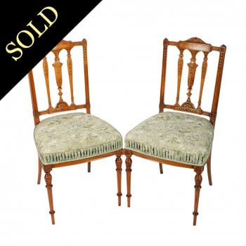 Pair of Victorian Satinwood Chairs