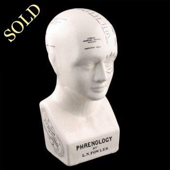20th Century Pottery Phrenology Head
