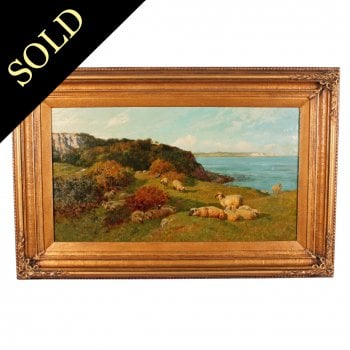 Oil on Canvas Landscape by Charles Collins