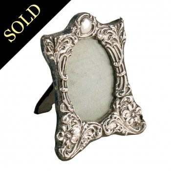 Small Victorian Sterling Silver Frame