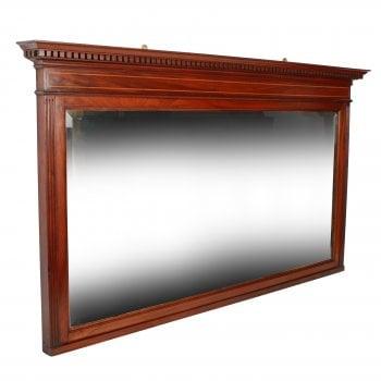 Inlaid Mahogany Overmantel Mirror