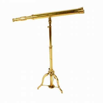 Large Brass Telescope On Stand