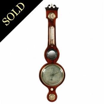 Georgian Mahogany Cased Barometer
