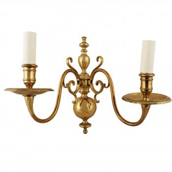 Early 20th Century Brass Wall Sconce