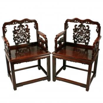 Qing Dynasty Hongmu Throne Chairs